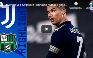 Serie A: torino juventus sassuolo video calcio