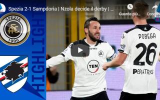 spezia sampdoria video gol calcio