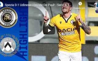 Serie A: la spezia spezia udinese video calcio