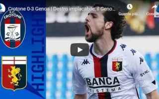 Serie A: crotone genoa video calcio sport
