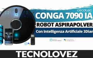 Tecnologie: conga 7090 ia  robot aspirapolvere