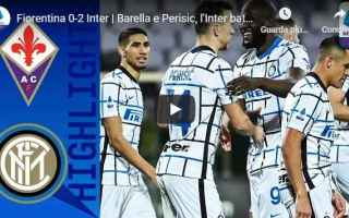 Serie A: firenze fiorentina inter video calcio