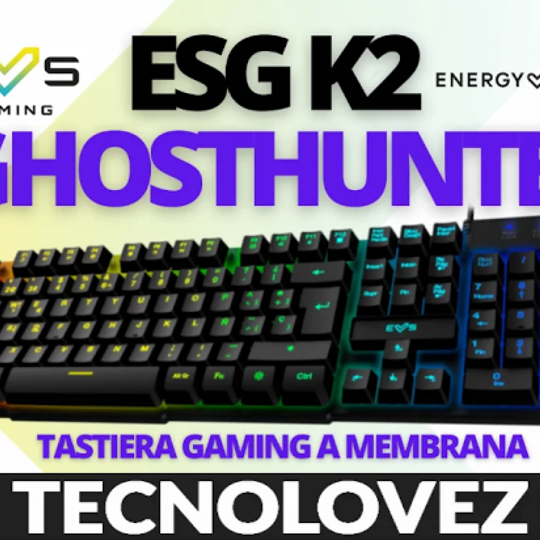 esg k2  ghosthunter tastiera da gaming