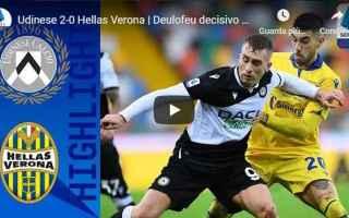 Serie A: udine udinese verona video calcio sport