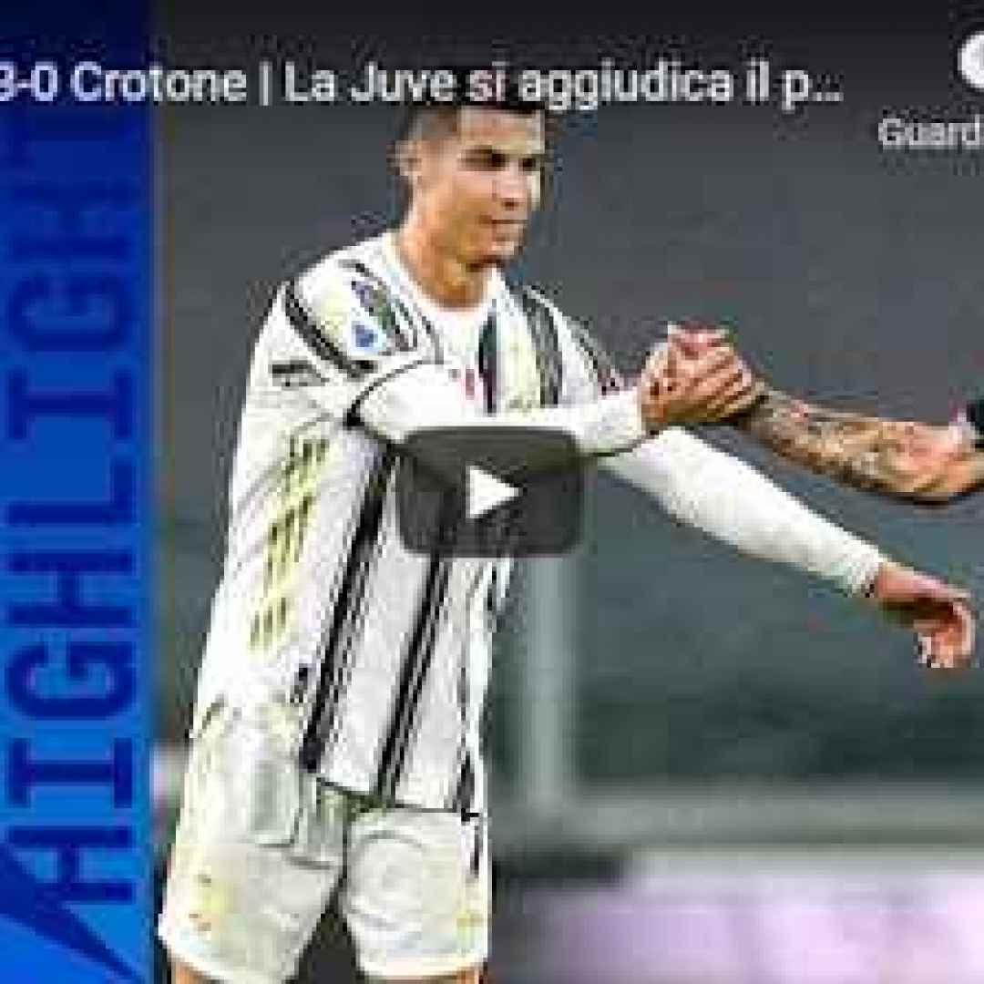 torino juventus crotone video calcio