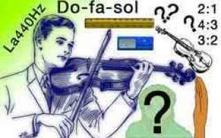 Arte: accordatura violino  antenati violino