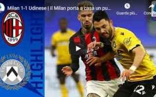 Serie A: milano milan udinese video calcio sport