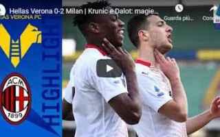 Serie A: verona milan video calcio sport