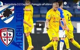 Serie A: genova sampdoria cagliari video calcio