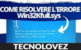 Computer: win32kfull.sys  windows 10