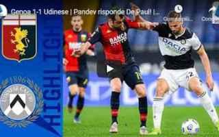 Serie A: genova genoa udinese video calcio sport