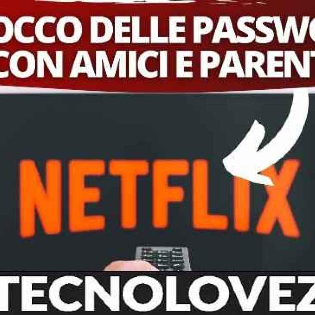 netflix blocco password