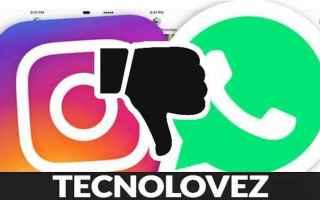 Instagram: instagram e whatsapp down