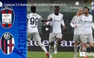 crotone bologna video calcio sport