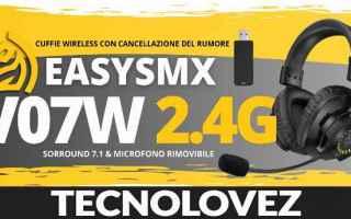 Computer: easysmx v07w 2.4g cuffie