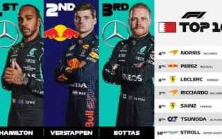 I Protagonisti, Promossi e Bocciati del Gran Premio del Bahrain sono stati: Hamilton: Ha dimostrato