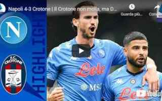 napoli crotone video calcio sport