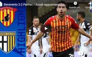 benevento parma video calcio sport
