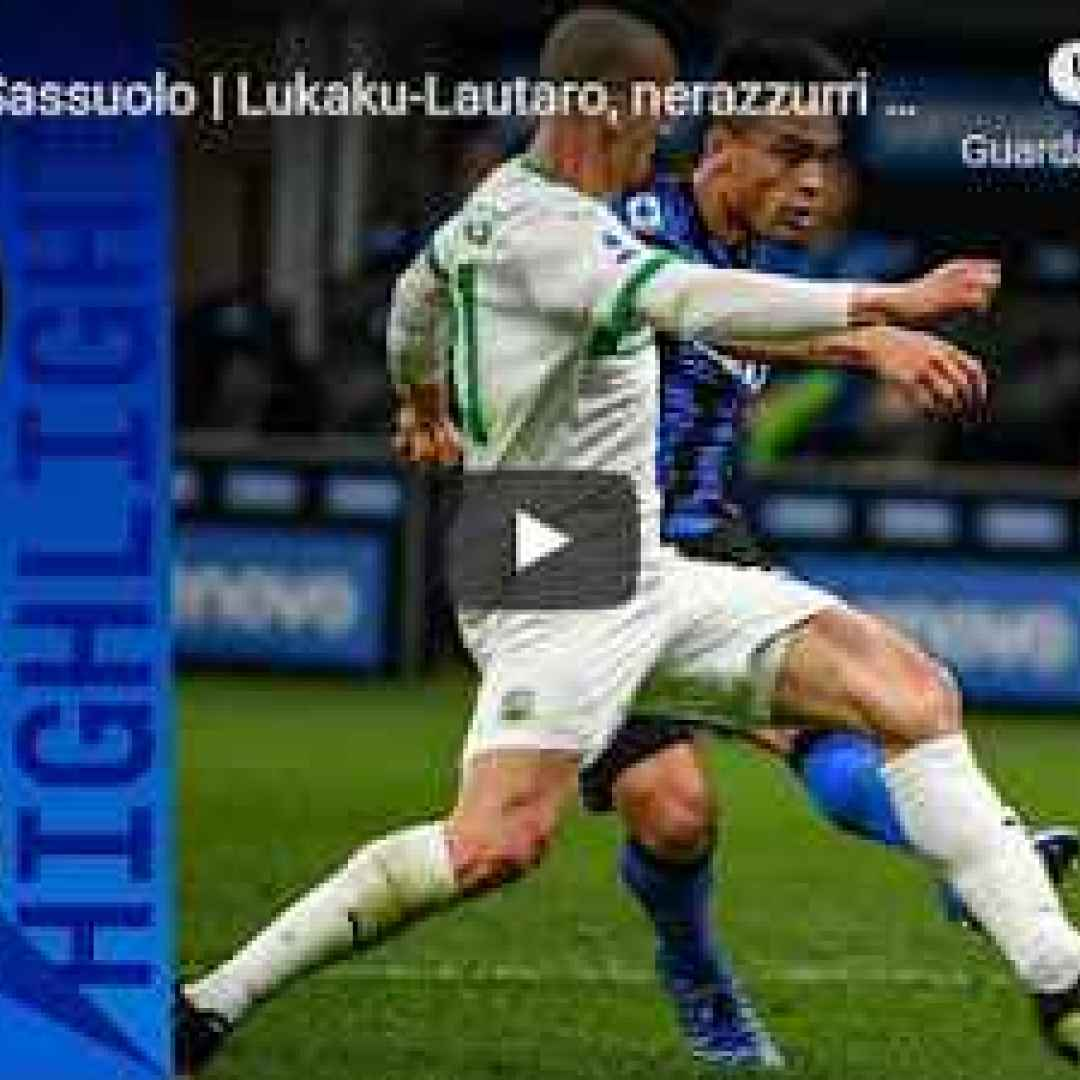 milano inter sassuolo video calcio sport
