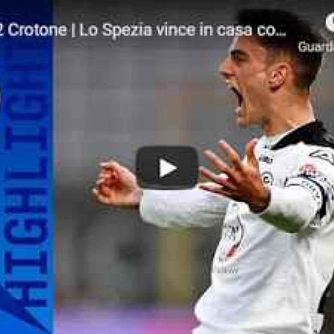 la spezia spezia crotone video calcio