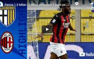 parma milan video calcio sport