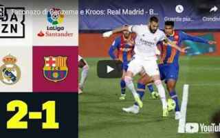 madrid real barcellona video spagna
