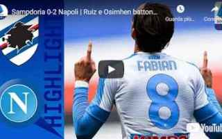genova sampdoria napoli video calcio