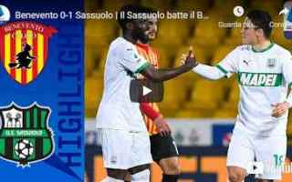 benevento sassuolo video calcio sport