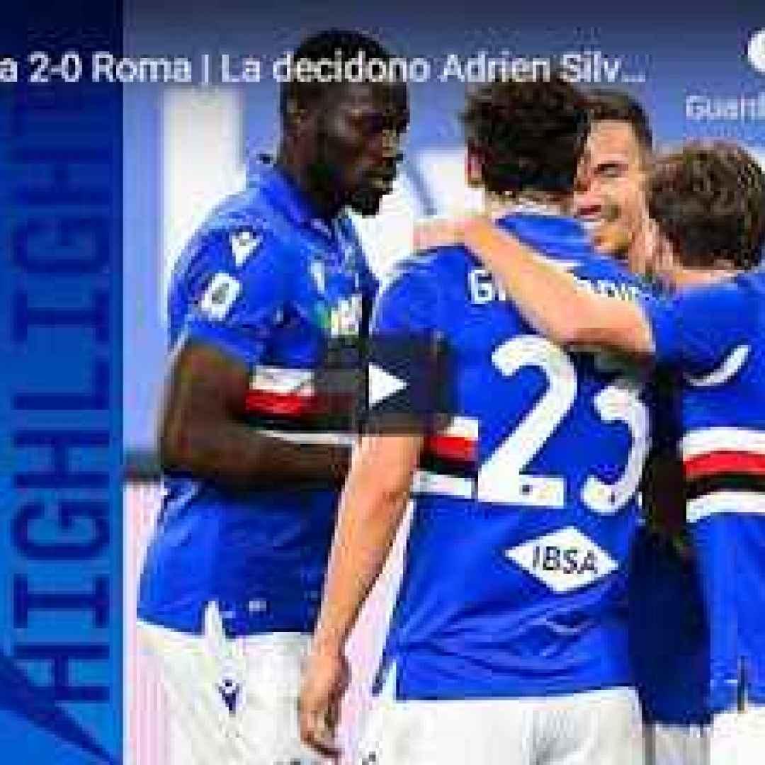 genova sampdoria roma video calcio