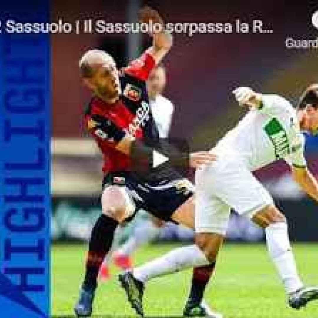 genova genoa sassuolo video calcio