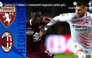 Serie A: torino milan video calcio sport