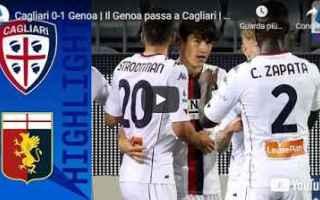 Serie A: cagliari genoa video calcio sport