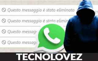 WhatsApp: whatsapp messaggi cancellati
