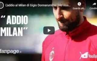 Serie A: milan video donnarumma calcio sport