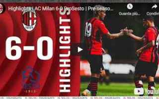 Serie A: milanello milan video calcio sport gol