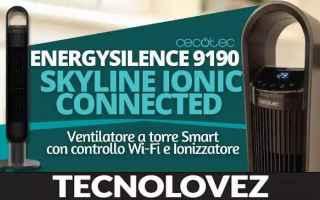 ventilatore smart wifi con ionizzatore