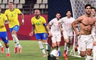 Calcio: brasile  spagna