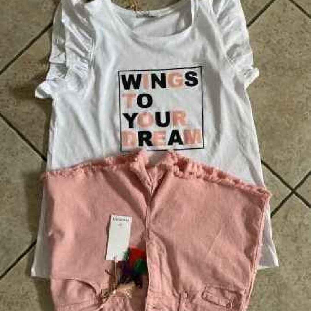motivi  shorts  moda  maglietta