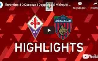 Coppa Italia: fiorentina cosenza video calcio sport