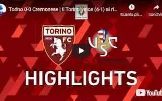 Coppa Italia: torino cremonese video calcio sport