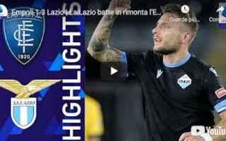 Serie A: empoli lazio video calcio sport gol