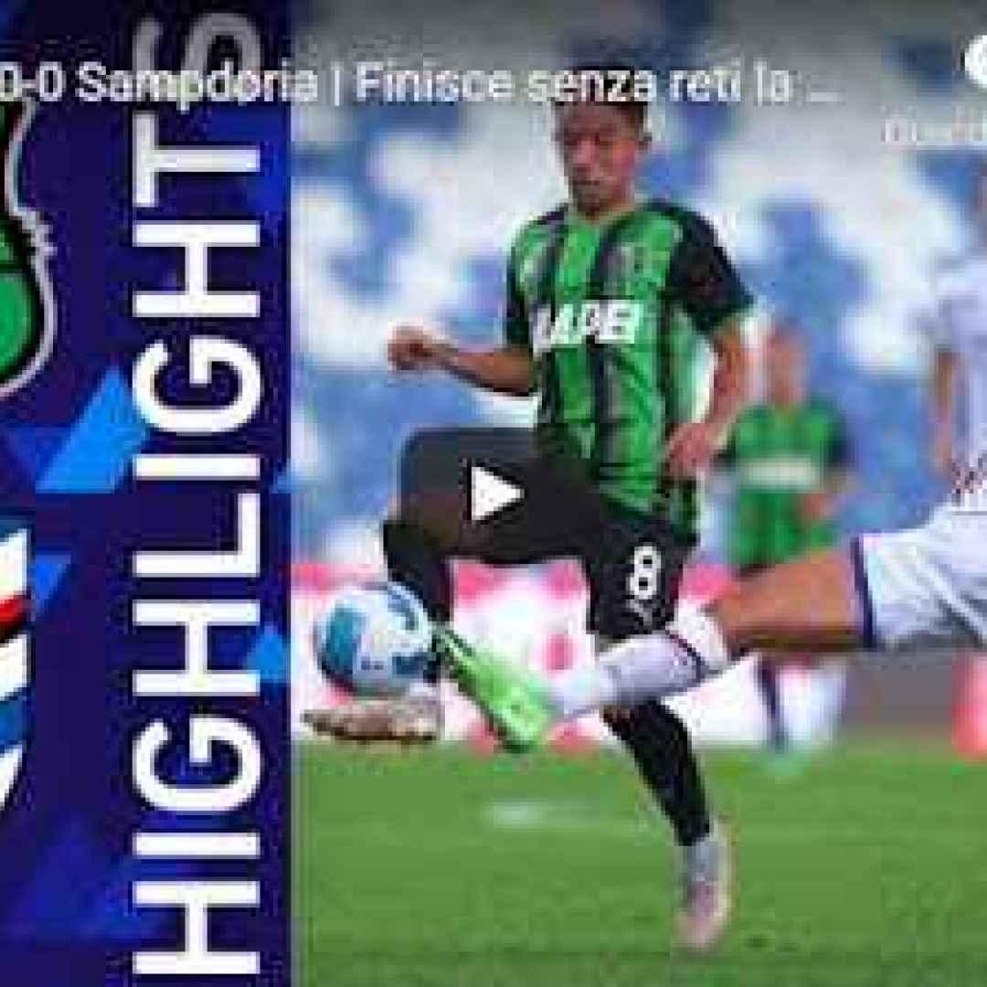 sassuolo sampdoria video calcio sport