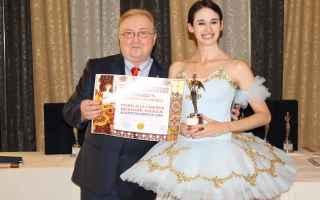 """Arte: Premio alla Carriera """"Una Vita per la Danza"""" alla danzatrice internazionale Roberta Di Laura"""