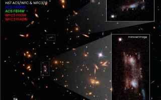 Astronomia: lente gravitazionale  galassie  hubble
